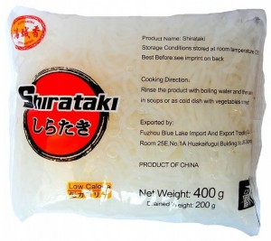 Makaron Shirataki Konjac Nitki Angel Hair 400g CITY AROMA