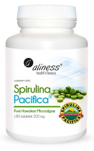 Spirulina Hawajska Pacifica 500mg 180 Tabletek ALINESS